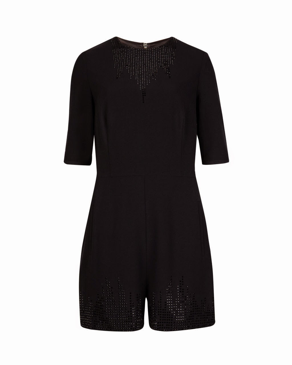 ted baker black playsuit
