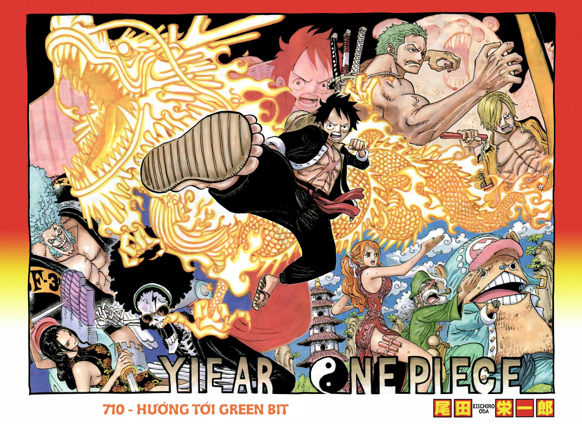 One Piece Chapter 710: Hướng tới Green Bit 002