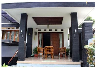 Bentuk teras depan rumah minimalis