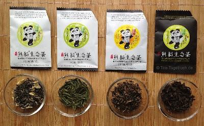 Panda-Tee-Proben im Überblick