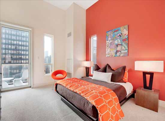 orange bedroom paint
