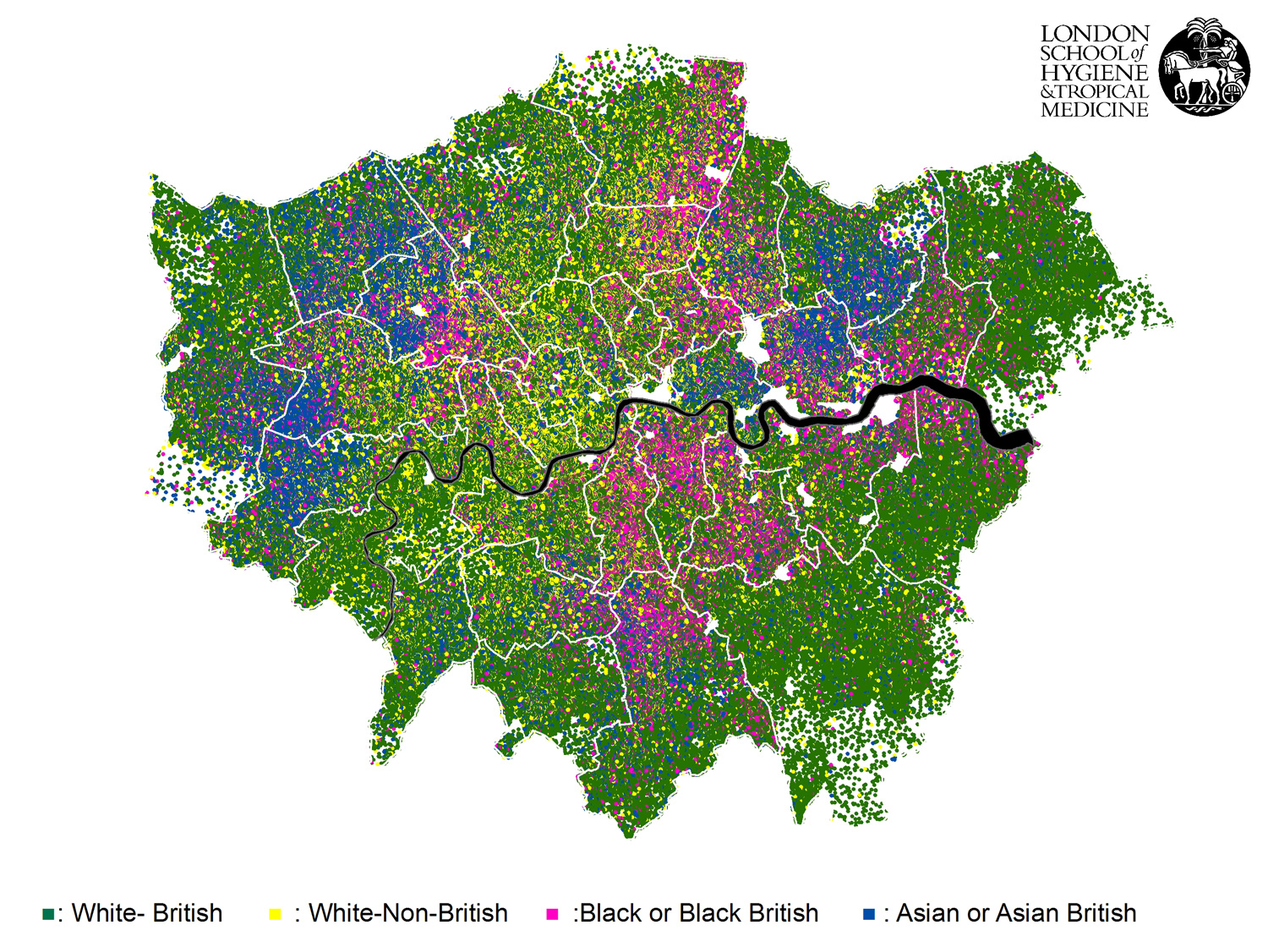 Map of London ethnicities