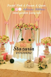 Hiasan Pelamin Buaian Berendoi Cukur Jambul Tema Warna Pastel Pink & Cream Green 2012&2013