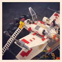 southern bricks lego show - x-wing crash