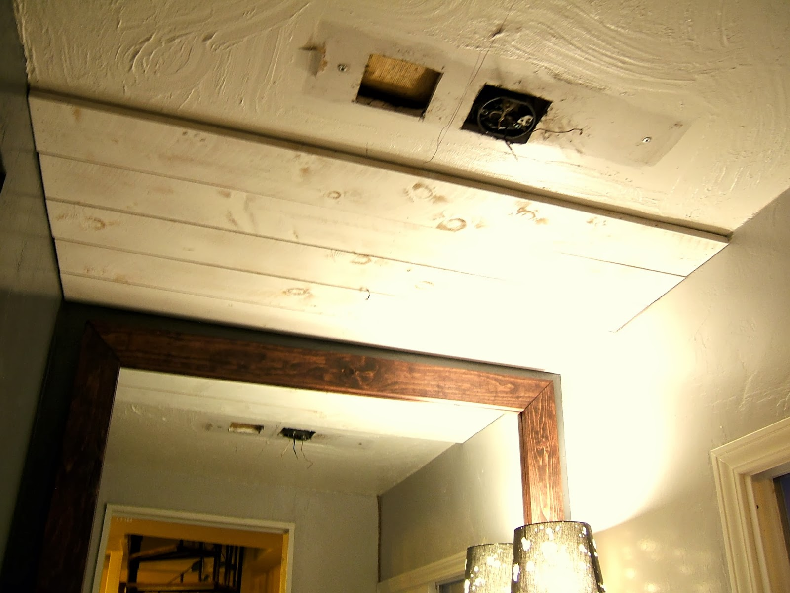 Nine Red: DIY White Wood Ceiling