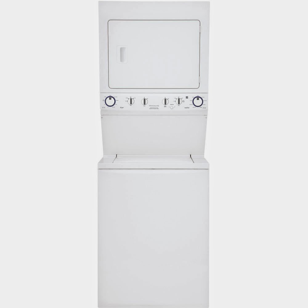 electric white stackable washer dryer