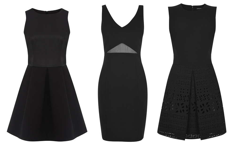 perfect party dresses - little black dress - warehouse
