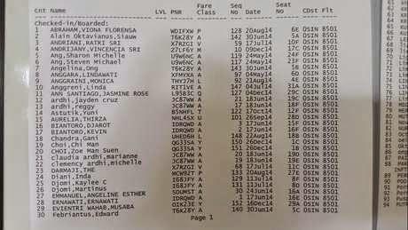 daftar nama penumpang airasia