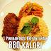 Nilai Kalori Dalam Makanan Popular Rakyat Malaysia