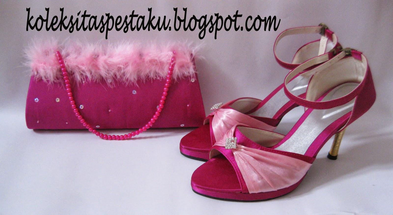 Sepatu dan Tas Pesta Magenta Pink Baby Cantik Mewah
