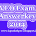 <center>VEO {Village Extension Officer} Exam Answer Key 21.06.2014</center>