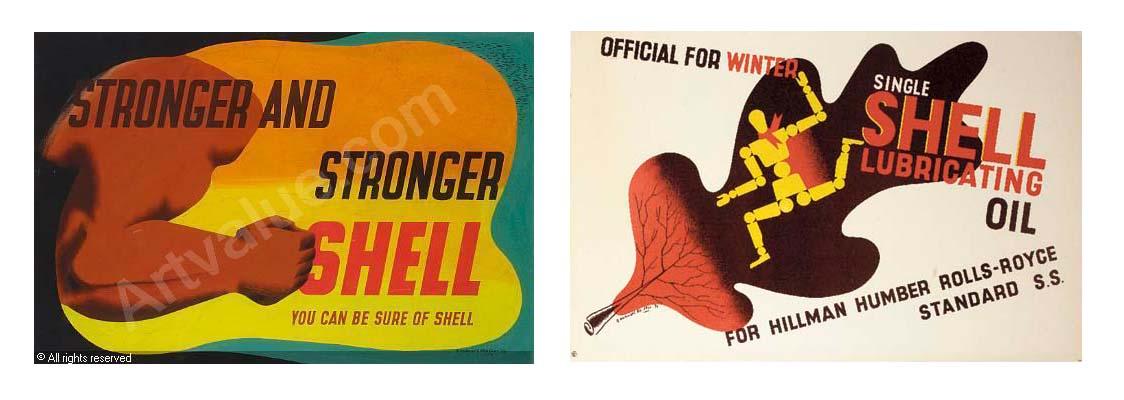 edward McKnight Kauffer shell advertising poster modernism