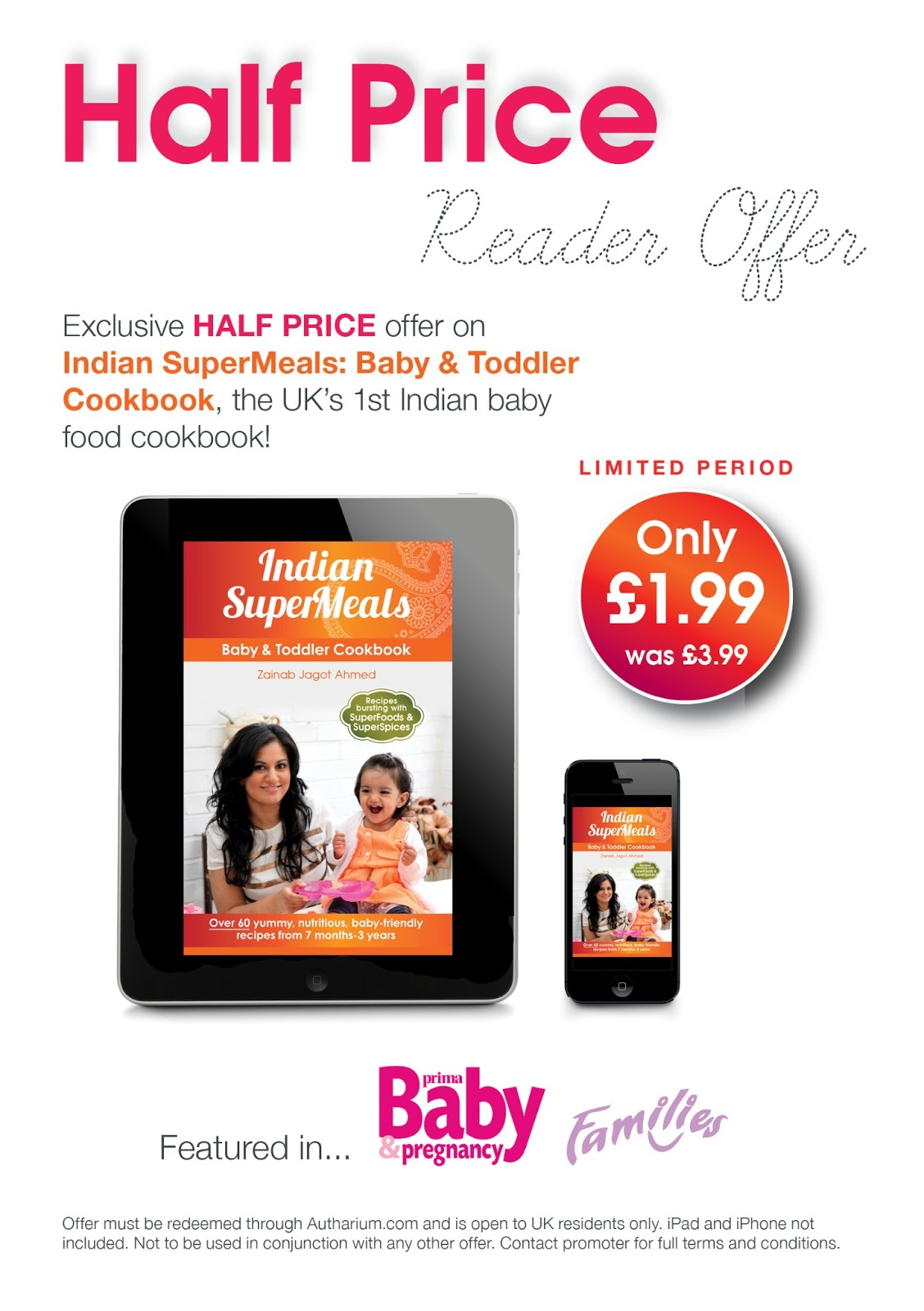 Half price indian supermeals baby toddler cookbook reader offer back in october i reviewed indian supermeals baby toddler cookbook by zainab jagot ahmed which is a delightful book detailing flavoursome recipes for forumfinder Choice Image
