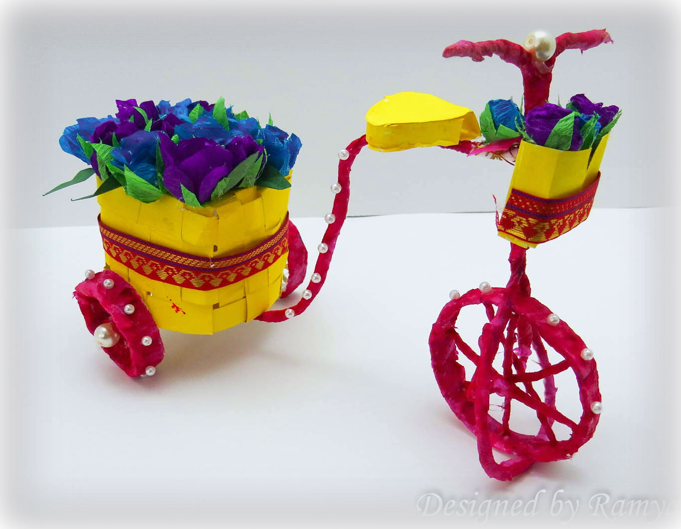 Kriya tive kaleidoscope diy bicycle using recycled materials for Things to make with recycled materials