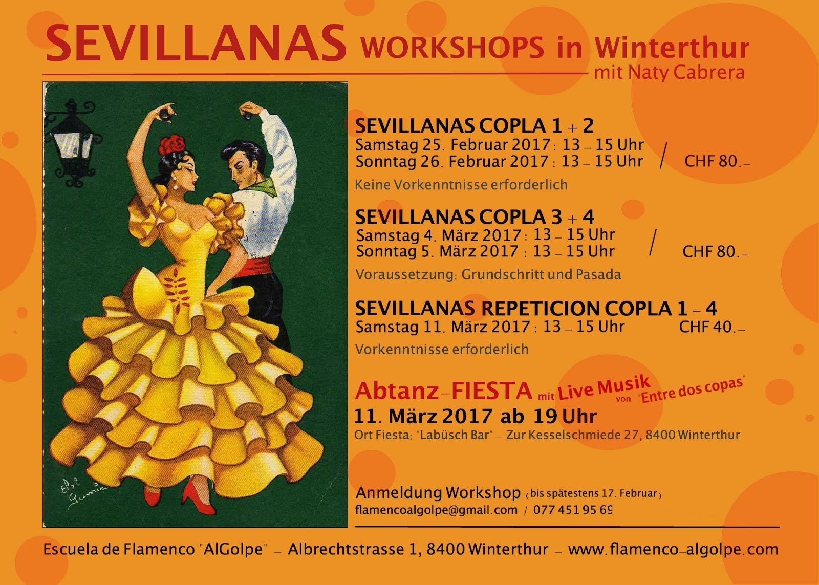 Sevillanas Workshops