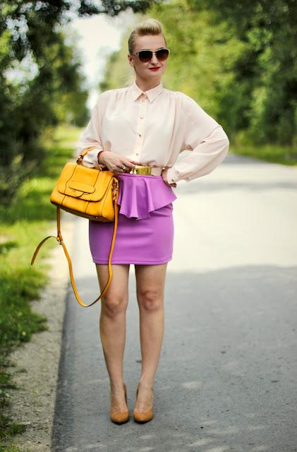 Violet Peplum