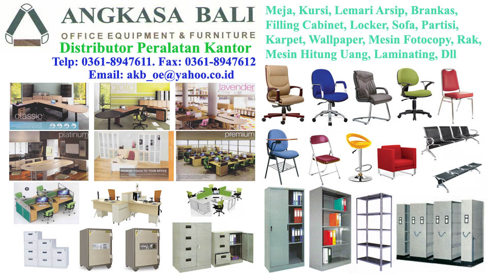 Angkasa bali supplies office furniture office equipment in for Furniture y equipment