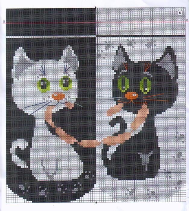 Кошка с телефоном схема