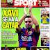 Xavi ficha con el Al-Sadd de Qatar, hoy España-Ucrania: las portadas