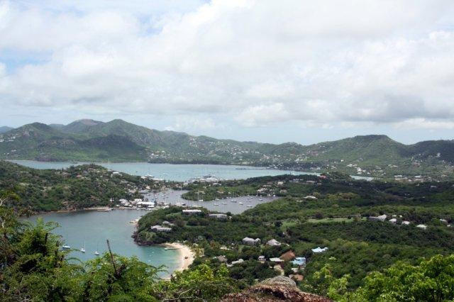 Vistas del Puerto Ingles English Harbour desde Shirley Heights en Antigua