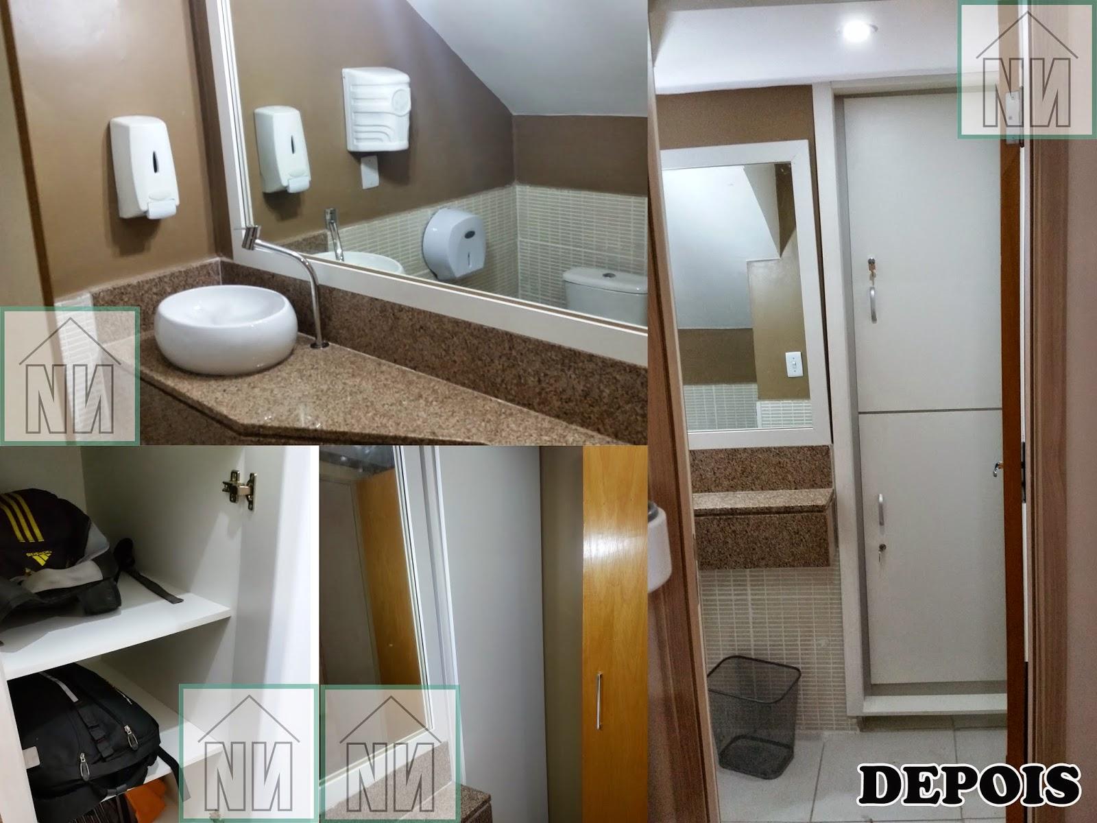 Veremos mais desta reforma em outras postagens. Espero que tenham  #61472D 1600x1200 Arquitetura Banheiro Pequeno