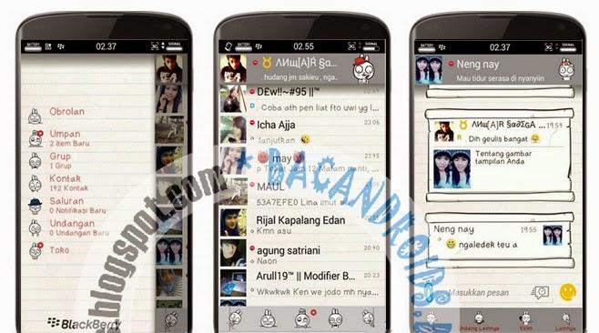 download BBM Mod A-Style Tema Seperti Kertas putih