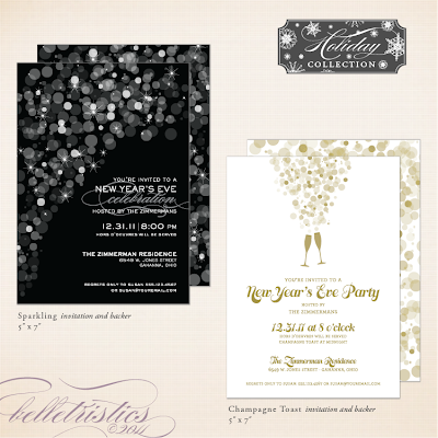 printable diy holiday new year's christmas party invitation gathering soiree champagne bubbles toast new year's eve sparkle unique custom personalized
