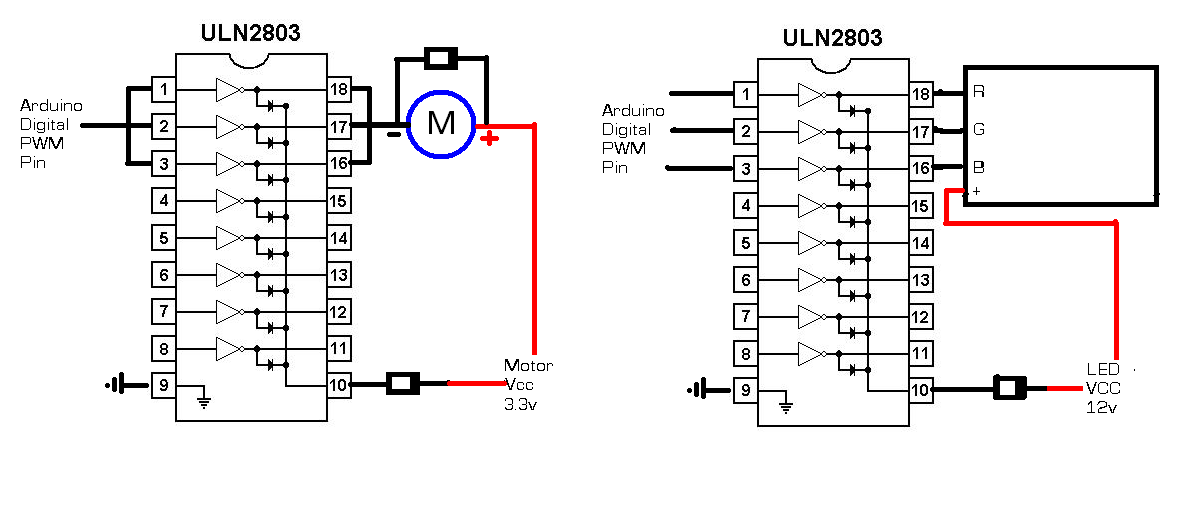 Arduino Uln2803 on 4 pin relay