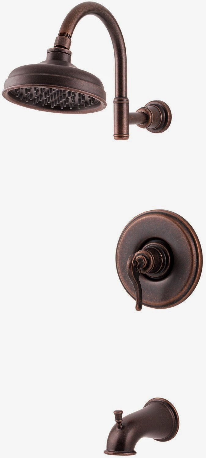 oil rubbed bronze showerhead and tub faucet