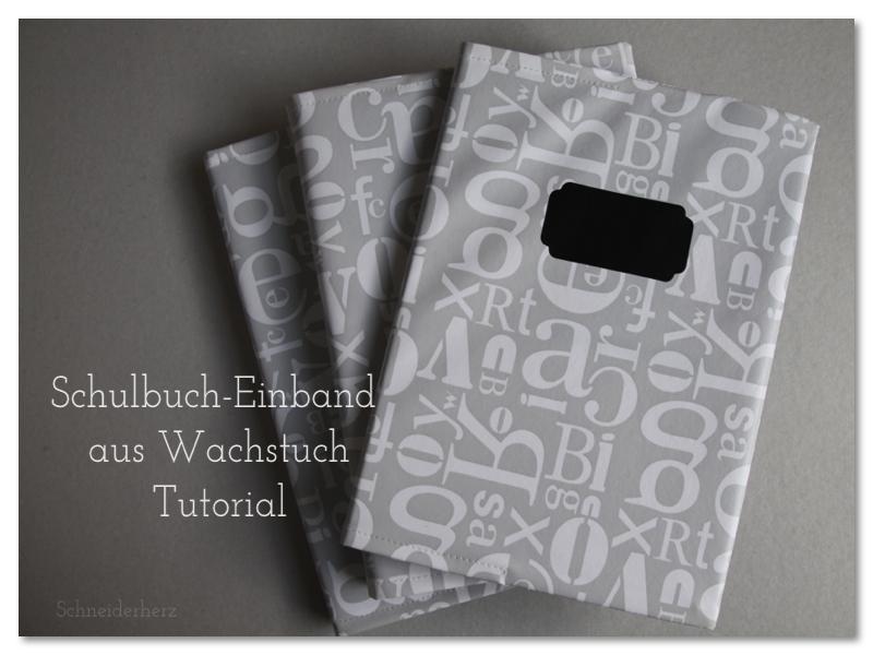 Schulbuch einbinden Tutorial DIY