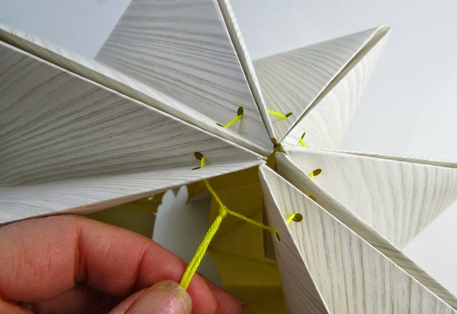 Diy origami lampshade from paper 99create aloadofball Image collections