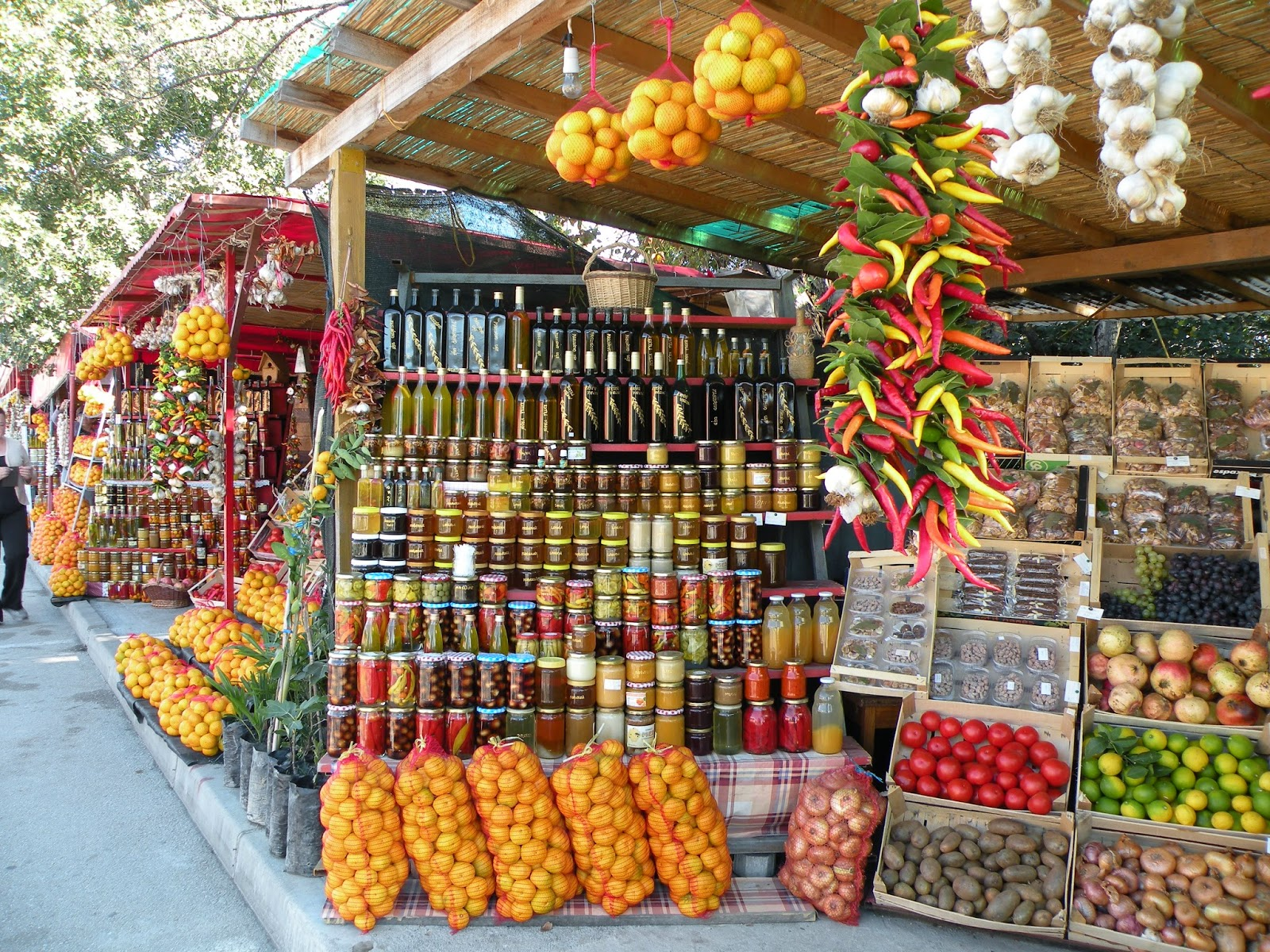 Croatia's Colourful roadside stands. Photograph by Janie Robinson, Travel Writer