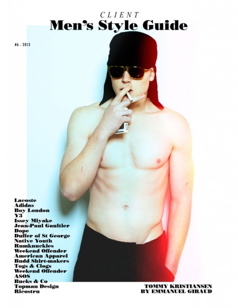 Tommy Kristiansen smoking on Cover of Client Style Guide