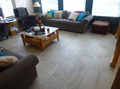 Porcelain Tile Flooring with a 1/3rd Stagger Set