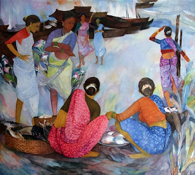 Painting by Shashi Bane ( part of his portfolio on www.indiaart.com )