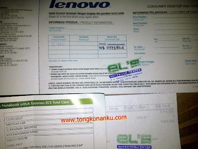 Bukti Pembelian Laptop Murah Lenovo G480-1457