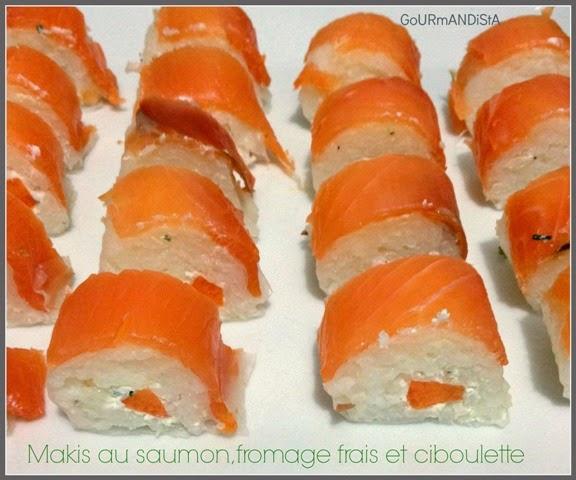 image-Makis au saumon fumé, fromage frais et ciboulette
