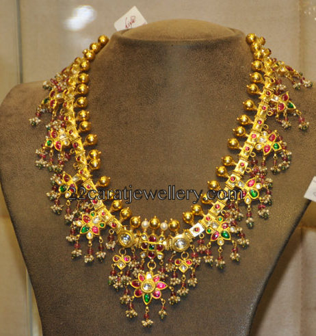 Guttapusalu Necklace With Bangles Jewellery Designs