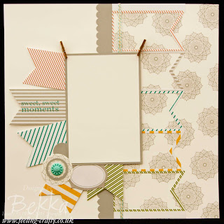 Tag a Bag Scrapbook Page by Stampin' Up! Demonstrator Bekka Prideaux for Team Training