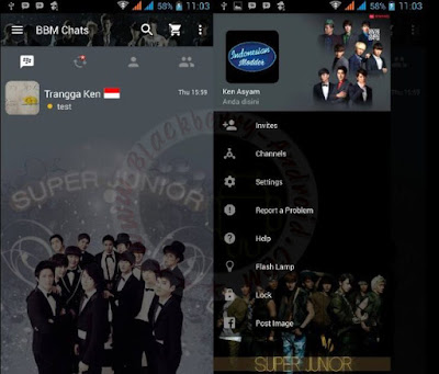 BBM Mod Super Junior Themes New Versi 2.11.0.16 Apk