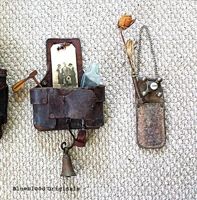Create cool storyteller tool belt art with all the things you love! By Blueblood Originals featured on I Love That Junk