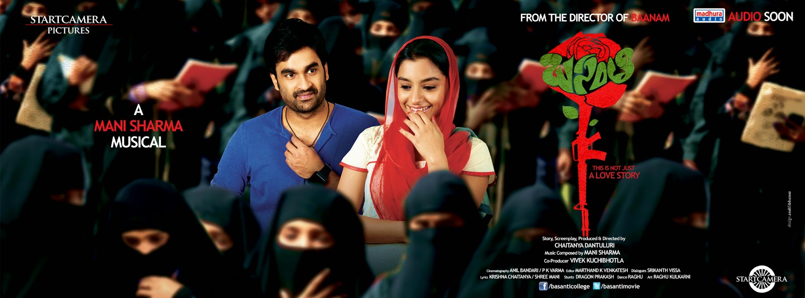 "Director Chaitanya Dantuluri ""Basanti"" movie posters details"