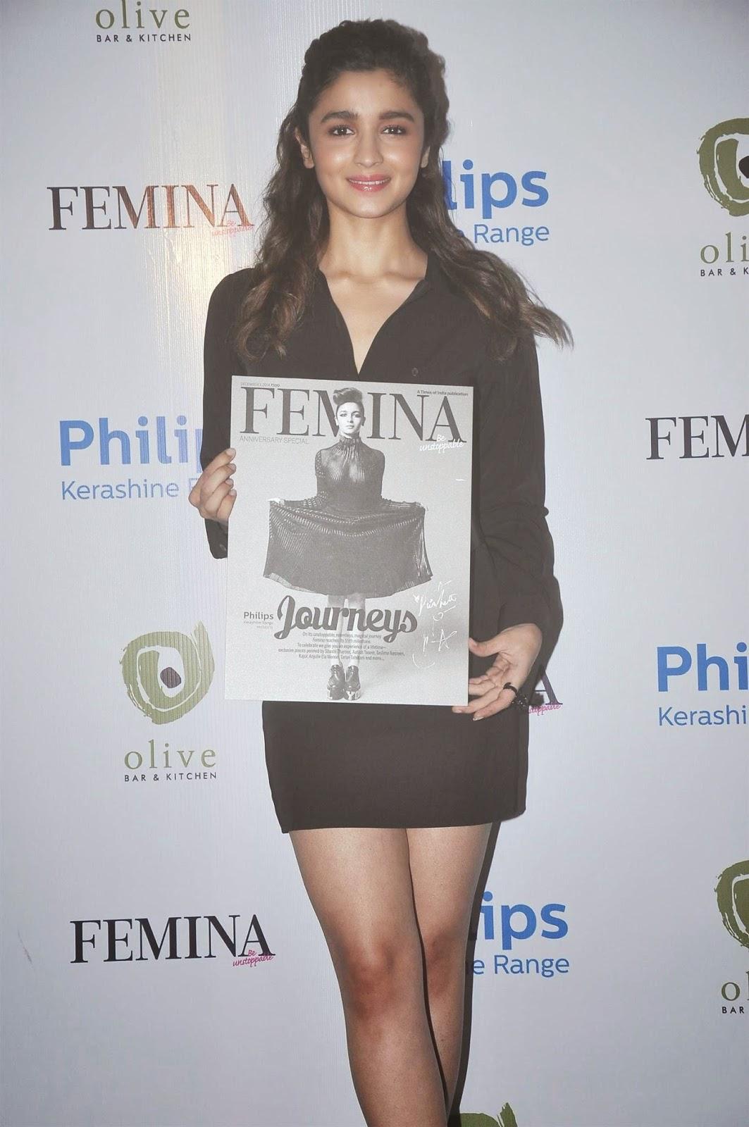 Actress Alia Bhatt launches Femina magazine's 55th anniversary issue