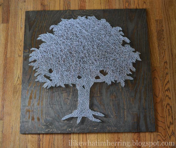 Деревья из ниток схемы