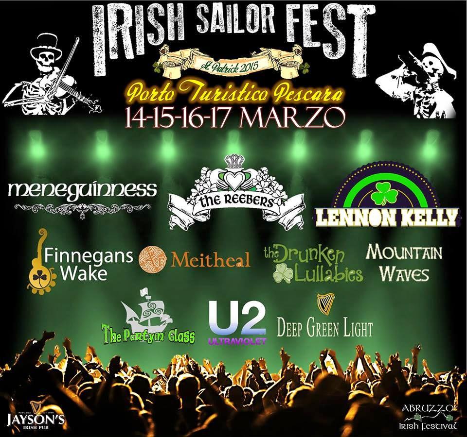 La locandina dell'Irish Sailor Fest (Pescara)