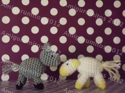mula y buey vaca y burro belén navidad amigurumi