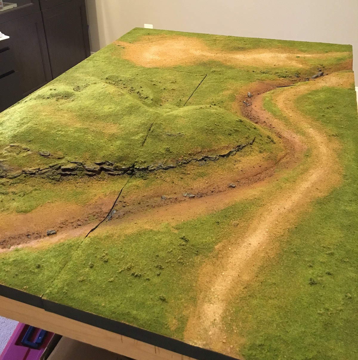 1000 Foot General Making Terrain Boards Part 6 Grass And