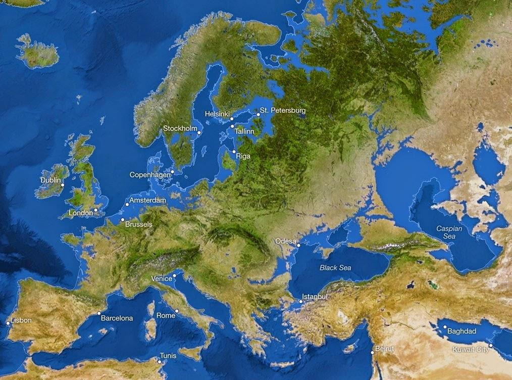 Se o gelo do mundo derreter - Europa