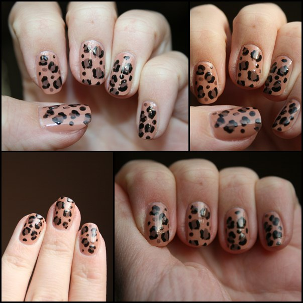 Leopardenmuster Nageldesign
