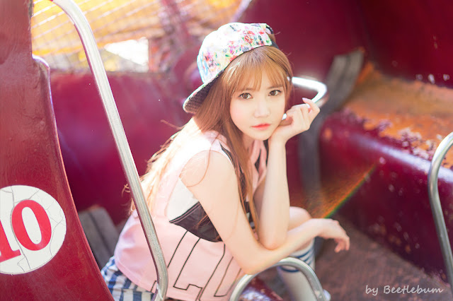 1 Han Ga Eun - Outdoors Photo Shoot At Yongma Land - very cute asian girl-girlcute4u.blogspot.com